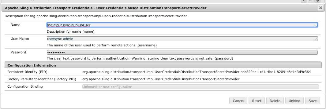 Apache Sling Distribution Transport Credentials