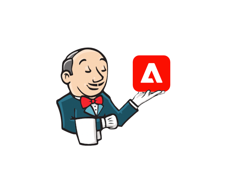 Jenkins and Cloud Manager logos